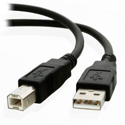 CABLE USB NANO CABLE USB2.0 A/M - USB2.0 B/M 1.8M NEGRO IMPRESORA | Quonty.com | 10.01.0103-BK