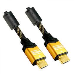 CABLE HDMI NANO CABLE HDMI A/M - HDMI A/M V1.4 1,8M ALTA VELOCIDAD/HEC/ORO NEGRO   Quonty.com   10.15.1602