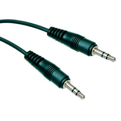 CABLE AUDIO NANO CABLE JACK3.5/M - JACK3.5/M 0,3M | Quonty.com | 10.24.0100