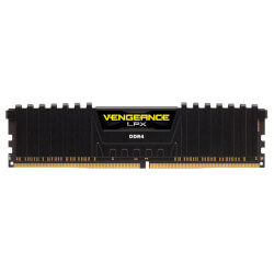 CORSAIR DDR4 16GB 2666MHZ CL16 VENGEANCE LPX BLACK | Quonty.com | CMK16GX4M2A2666C16