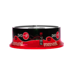 DVD-R 4,7 Gb. Maxell Grabable Tarrina de 25 uds | Quonty.com | DVD-R 4,7 GEN SP25 1