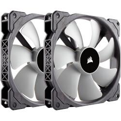 VENTILADOR CAJA CORSAIR ML140 140MM PWM BLACK/WHITE 2UNDS | Quonty.com | CO-9050044-WW