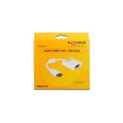 CABLE HDMI MACHO A VGA HEMBRA DELOCK | Quonty.com | 65346