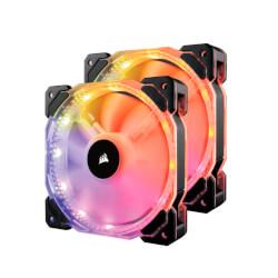 VENTILADOR CAJA CORSAIR HD140 RGB LED DUAL FAN   Quonty.com   CO-9050069-WW