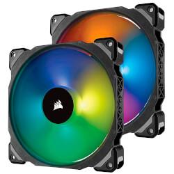 VENTILADOR CAJA CORSAIR ML140 PRO RGB 140MM PREMIUM 2UNDS | Quonty.com | CO-9050078-WW