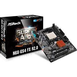 PLACA ASROCK N68-GS4 FX R2.0 AMD AM3+ DDR3 VGA PCIE2.0 SATA2 USB2.0 MATX | Quonty.com | 90-MXGSG0-A0UAYZ