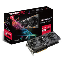 TARJETA GRAFICA ASUS STRIX-RX580-O8G-GAMING 8GB GDDR5 PCIE3.0 HDMI | Quonty.com | 90YV0AK0-M0NA00