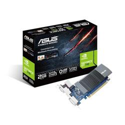 TARJETA GRAFICA ASUS GT710-SL-2GD5 2GB GDDR5 PCIE2.0 HDMI SILENT | Quonty.com | 90YV0AL1-M0NA00