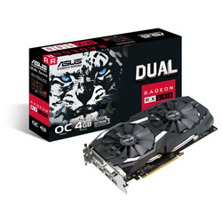 ASUS DUAL-RX580-O4G 4GB GDDR5 HDMI PCIE3.0 | Quonty.com | 90YV0AQ0-M0NA00