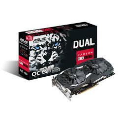 ASUS DUAL-RX580-O8G 8GB GDDR5 HDMI PCIE3.0 | Quonty.com | 90YV0AQ1-M0NA00