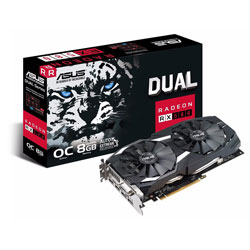 ASUS DUAL-RX580-8G 8GB GDDR5 HDMI PCIE3.0 | Quonty.com | 90YVOAQ3-M0NA00