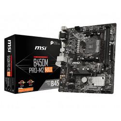 Placa Msi B450m Pro-M2 Max Amd Am4 Ddr4 Hdmi Pcie3.0 M.2 Sata3 Usb3.2 Matx | Quonty.com | 911-7B84-024