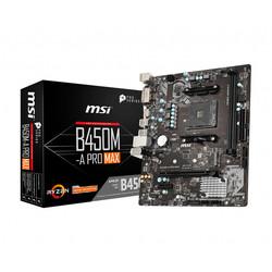 Placa Msi B450m-A Pro Max Amd Am4 Ddr4 Hdmi Pcie3.0 Sata3 Usb3.2 Matx | Quonty.com | 911-7C52-002