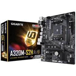 PLACA GIGABYTE A320M-S2H AMD AMD4 2DDR4 PCX MATX DVI | Quonty.com | GA-A320M-S2H