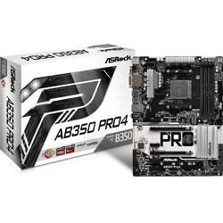 PLACA ASROCK AB350 PRO4 AM4 DDR4 HDMI PCIE3.0 SATA3 USB3.0 | Quonty.com | 90-MXB510-A0UAYZ