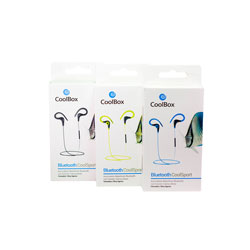 AURICULARES C/MICROFONO COOLBOX COOLSPORT NEGRO | Quonty.com | COO-AUBS6-BK