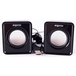ALTAVOCES APPROX 2.0 5W JACK-3.5MM NEGRO | Quonty.com | APPSPX1B