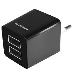 CARGADOR USB PARED TACENS AUSB1 2PTOS 2.1A | Quonty.com | AUSB1