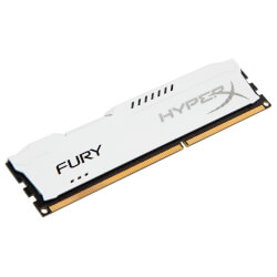 MEMORIA KINGSTON HYPERX FURY WHITE DDR3 8GB PC1866 | Quonty.com | HX318C10FW/8