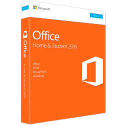 SOFTWARE MICROSOFT OFFICE HOME STUDENTS 2016 V2 PKC | Quonty.com | 79G-04621