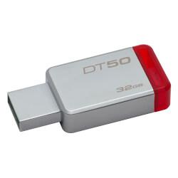 PENDRIVE KINGSTON DT50 32GB USB 3.1 ROJO | Quonty.com | DT50/32GB
