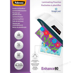 FUNDAS PLASTIFICAR FELLOWES A4 - 25 PCS - 80 MIC | Quonty.com | 5396205