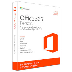 SOFTW MICROSOFT OFFICE 365 PERSONAL 1US 1AÑO | Quonty.com | QQ2-00542