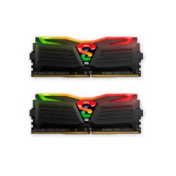 MODULO DDR4 8GB (2X4GB) PC2400 GEIL SUPER LUCE BL | Quonty.com | GLC48GB2400C16DC