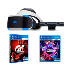 GAFAS SONY PLAYSTATION VR+CAMARA+VR WORLDS+GT   Quonty.com   9950561
