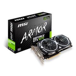 MSI GTX 1070 TI ARMOR 8G GDDR5 | Quonty.com | 912-V330-223