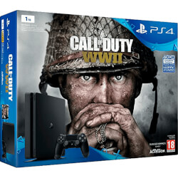VIDEOCONSOLA SONY PS4 1TB + CoD: WWII | Quonty.com | 9942467