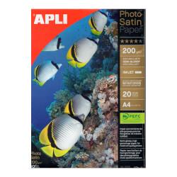 PAPEL FOTO SATINADO APLI A4 20 HOJAS | Quonty.com | 04453