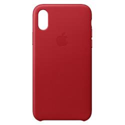 FUNDA APPLE PARA IPHONE X LEATHER CASE ROJA | Quonty.com | MQTE2ZM/A