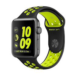 APPLE WATCH NIKE+ 42MM GRIS ESPACIAL CON CORREA NEGRA/VOLTIO | Quonty.com | MP0A2QL/A