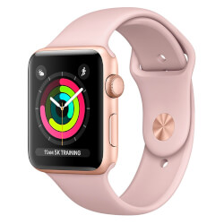 APPLE WATCH S3 42MM CON CORREA DEPORTIVA ROSA ARENA | Quonty.com | MQL22QL/A