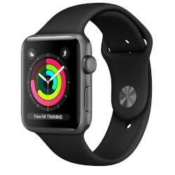 APPLE WATCH S3 38MM CON CORREA DEPORTIVA GRIS | Quonty.com | MR352QL/A