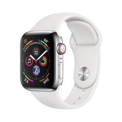 RELOJ INTELIGENTE APPLE WATCH SERIES 4 GPS PLATA/BLANCO | Quonty.com | MTVJ2TY/A