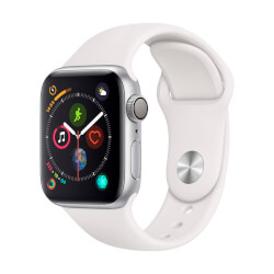 RELOJ INTELIGENTE APPLE WATCH SERIES 4 GPS PLATA/BLANCO | Quonty.com | MU6A2TY/A