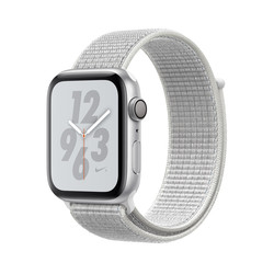 RELOJ INTELIGENTE APPLE WATCH Nike SERIES 4 GPS PLATA/BLANCO | Quonty.com | MU7H2TY/A