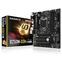 PLACA GIGABYTE B250M-D3H INTEL1151 DDR4 HDMI PCIE3.0 SATA3 USB3.1 MATX | Quonty.com | GA-B250M-D3H
