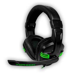 Auriculares C/Microfono B-Move Typhoon Gaming Negro | Quonty.com | BG-AUD08