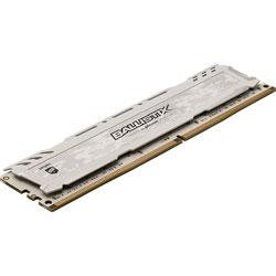 MEMORIA CRUCIAL DIMM DDR4 8GB 2666MHZ (PC4-21300) CL16 BALLISTIX SPORT LT WHITE | Quonty.com | BLS8G4D26BFSCK