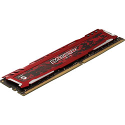 MEMORIA CRUCIAL DIMM DDR4 16GB 2666MHZ (PC4-21300) CL16 BALLISTIX SPORT LT ROJA | Quonty.com | BLS16G4D26BFSE