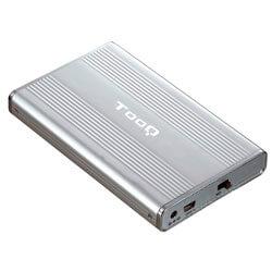 CAJA HDD TOOQ TQE-2512 2.5'' IDE/SATA USB2.0 PLATA | Quonty.com | TQE-2512