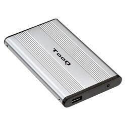 CAJA HDD TOOQ TQE-2501 2.5'' IDE USB2.0 PLATA | Quonty.com | TQE-2501