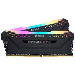 CORSAIR DIMM DDR4 16GB (2X8GB) 3200MHZ VENGEANCE RGB BLACK | Quonty.com | CMW16GX4M2C3200C16