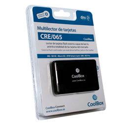 LECTOR EXT USB2.0 COOLBOX CRE-065 TARJ FLASH/DNIE | Quonty.com | CRE-065
