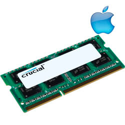 MEMORIA CRUCIAL SO-DIMM DDR2 2GB 800HZ CL6 1.8V MAC | Quonty.com | CT2G2S800MCEU