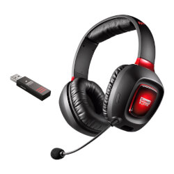 AURICULARES CON MICRÓFONO GAMING CREATIVE SOUND BLASTER TACTIC3D RAGE WIRELESS V2.0 - SONIDO ENVOLVENTE 7.1 - COMPATIBLE PC/MAC/PS4 | Quonty.com | 70GH022000003