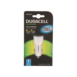 Cargador De Coche Duracell 1usb 1a-1usb2.4a 5v Blanco | Quonty.com | DR5035W